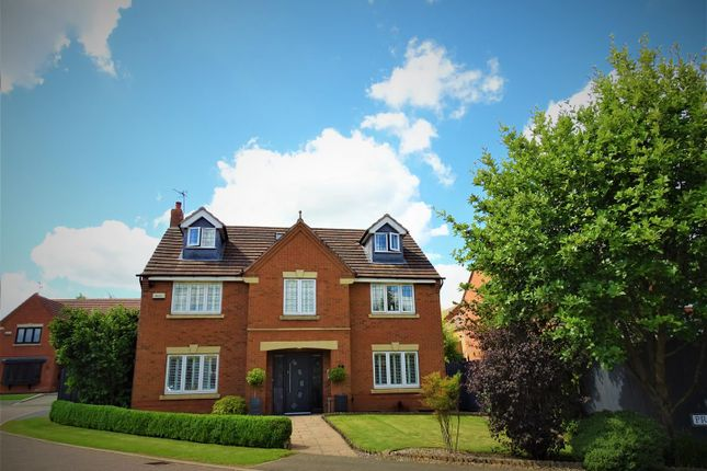 Thumbnail Detached house for sale in Primrose Close, Groby, Leicester