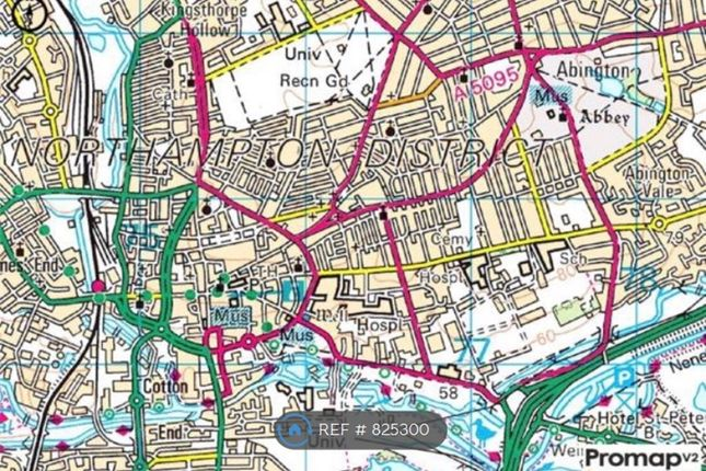 Map Of The Area of Cyril Street, Northampton NN1