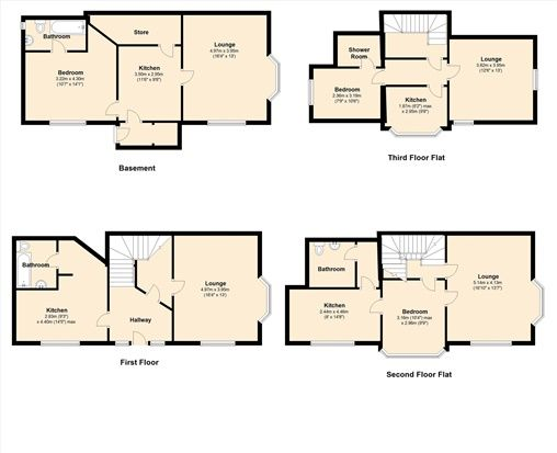 Floor Plan of Thornton Avenue, Morecambe LA4