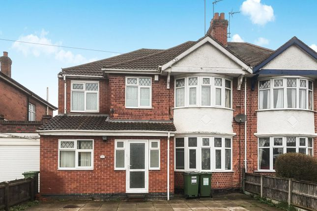 Thumbnail Semi-detached house for sale in Narborough Road South, Leicester