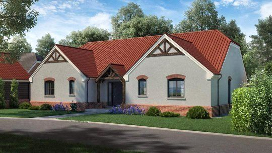 Thumbnail Detached bungalow for sale in Church Meadow Plot 3, The Orchards, Weston, Spalding, Lincolnshire