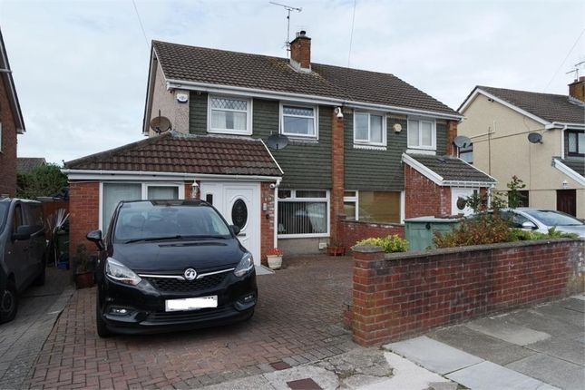 Thumbnail Semi-detached house for sale in Julians Way, Broadlands, North Cornelly, Bridgend