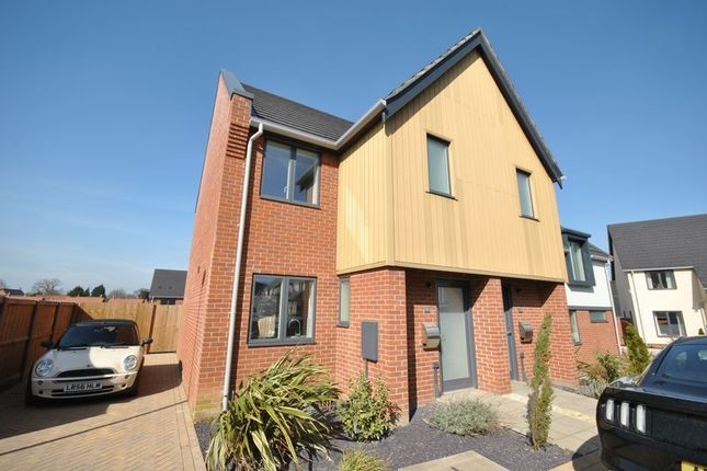 Thumbnail Semi-detached house for sale in Blaxter Way, Norwich