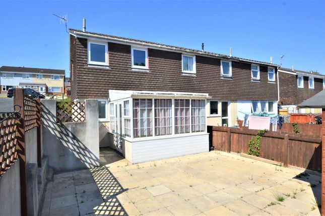 Thumbnail End terrace house to rent in Frobisher Drive, Saltash, Cornwall