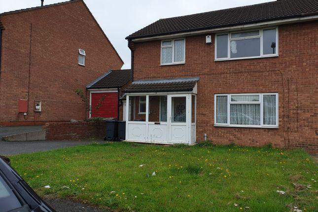 Thumbnail Semi-detached house to rent in Jinnah Close, Birmingham