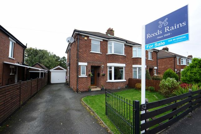 Thumbnail Semi-detached house for sale in Norwood Avenue, Belmont, Belfast