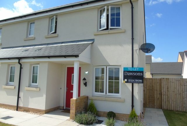 Thumbnail Semi-detached house to rent in Rhes Brickyard Row, Llanelli