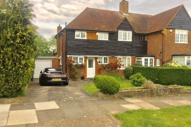 Thumbnail Semi-detached house to rent in Cotswold Way, Oakwood, London