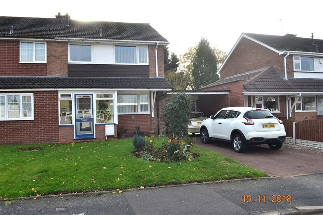 Thumbnail Semi-detached house for sale in Braemar Close, Willenhall