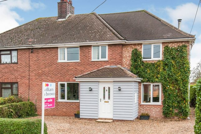 Thumbnail Semi-detached house for sale in Quays Road, Risby, Bury St. Edmunds