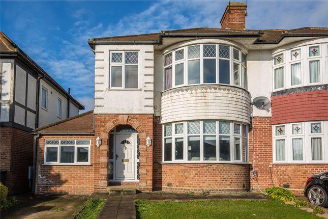Thumbnail Semi-detached house for sale in Belgrave Gardens, Oakwood, London
