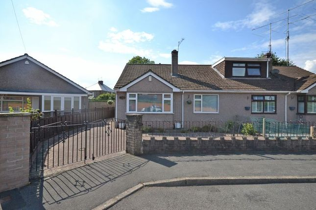 Thumbnail Semi-detached bungalow for sale in Spacious Bungalow, Cefn Court, Rogerstone