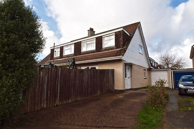 Thumbnail Semi-detached house for sale in Polstain Road, Threemilestone, Truro