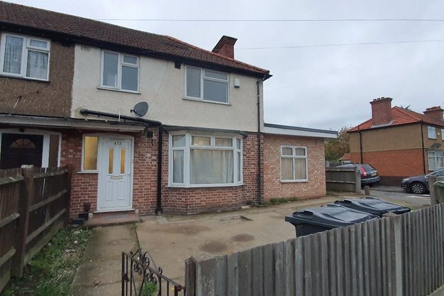 Thumbnail End terrace house to rent in Sipson Road, Harlington