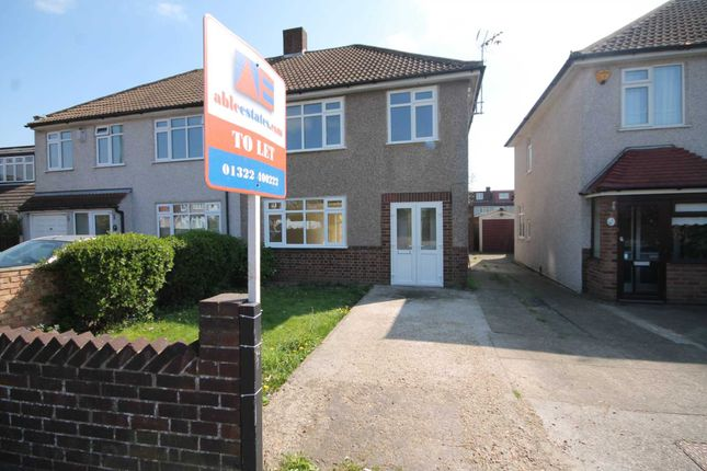 Thumbnail Semi-detached house to rent in Bedonwell Road, Bexleyheath