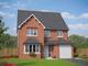 Thumbnail 5 bedroom detached house for sale in Village Road, Northop Hall, Flintshire