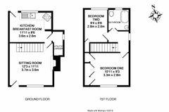 Floorplan 1 of 1 for 1, Halls Cottages,
