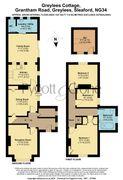Floorplan 1 of 1 for 4, Greylees Cottage, Grantham Road