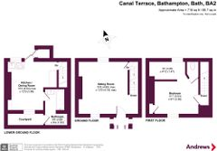 Floorplan 1 of 1 for 1 Canal Terrace