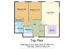 Floorplan 1 of 1 for Flat 22 Hurst Court, 8 Elliot Road