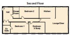 Floorplan 1 of 1 for Flat N22, The Quadrangle Hunmanby Hall, Hall Park Road
