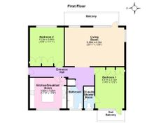 Floorplan 1 of 1 for Flat 7, Wessex Court, De Moulham Road