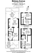 Floorplan 1 of 1 for 104 Molesey Avenue