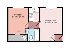 Floorplan 1 of 1 for Flat 4, Clover Nooke, Old Redbridge Road
