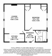 Floorplan 1 of 1 for Flat 159c, Florence Court, Croydon Road