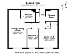 Floorplan 1 of 1 for Flat 40, Chantry Court, New Park Street