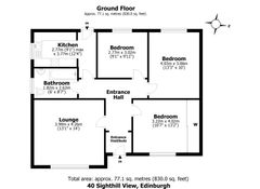 Floorplan 1 of 1 for 40 Sighthill View