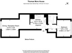 Floorplan 1 of 1 for Flat 157, Thomas More House, Barbican