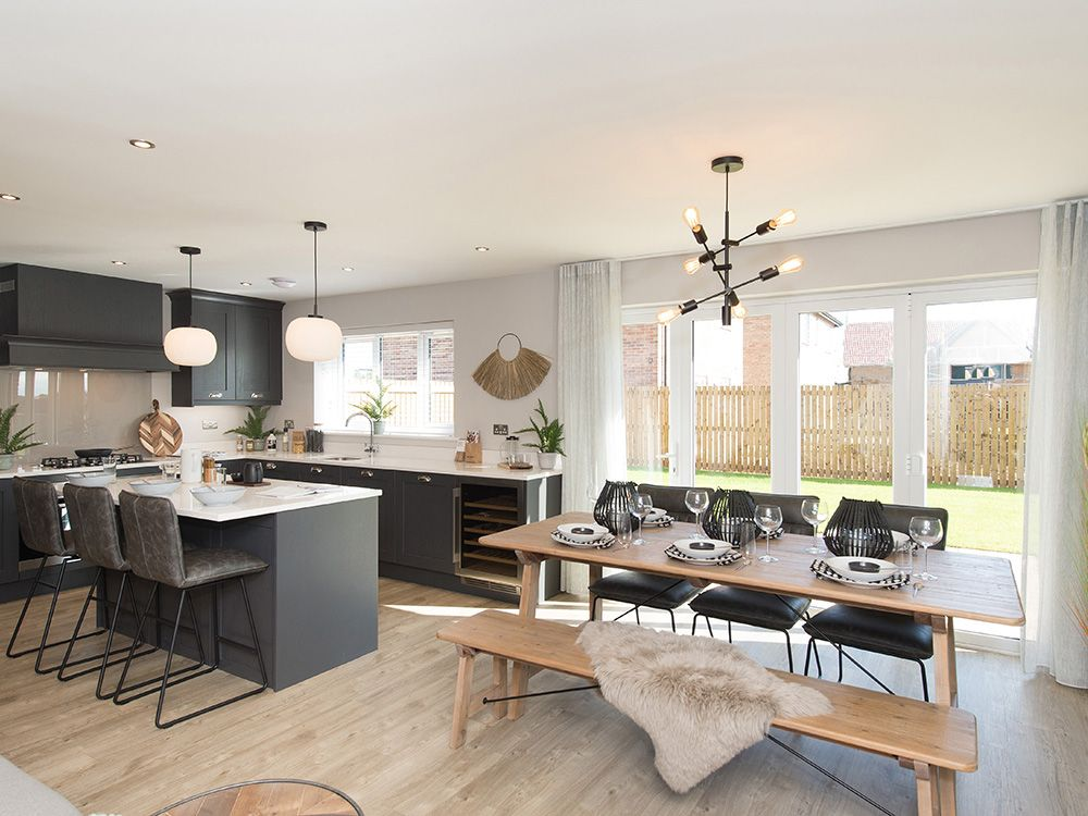 Property photo 1 of 13. Large Kitchen/Dining/Family Area With Bi-Fold Doors To The Garden
