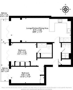 Floor Plan - Flat 10 Wentworth House.Png