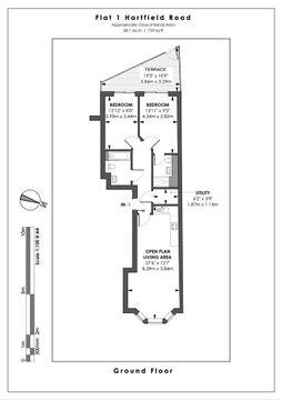 Floor Plan - Flat 1 - Hartfield Road Ground Floor.