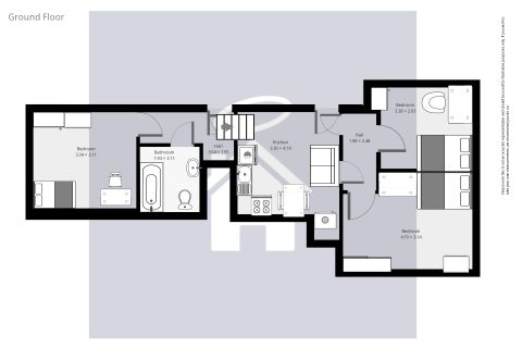 Flat 3 15 Northcote Floorplan