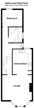 Split Level First Floor Plan