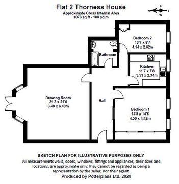Flat 2, Thorness House Floorplan