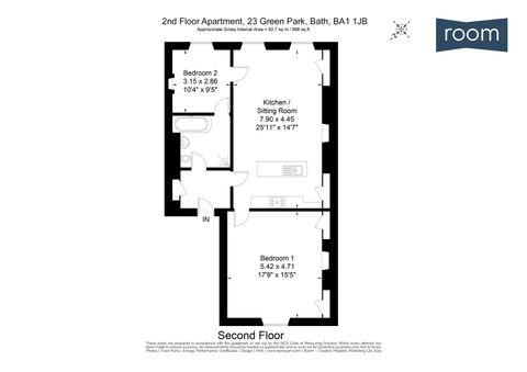 2nd Floor Apartment, 23 Green Park, Bath, Ba1 1Jb
