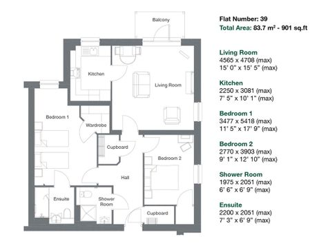 Apartment 39 Floor Plan