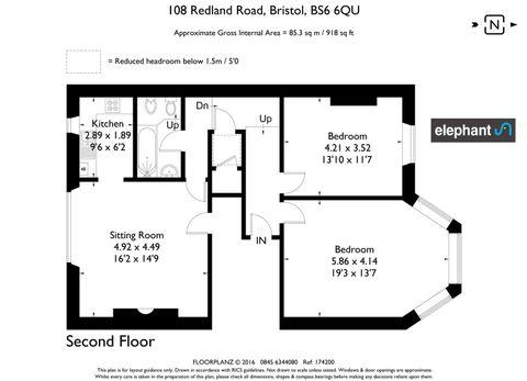 108 Redland Road Hall Floor Flat Floorplan.Jpg