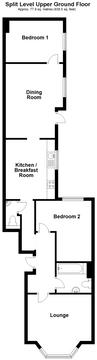 Split Level Upper Ground Floor Plan
