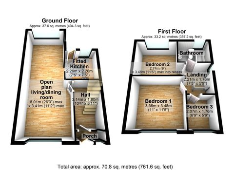 12 Lighthorne Road, Cheadle Heath 3D Floor Plan