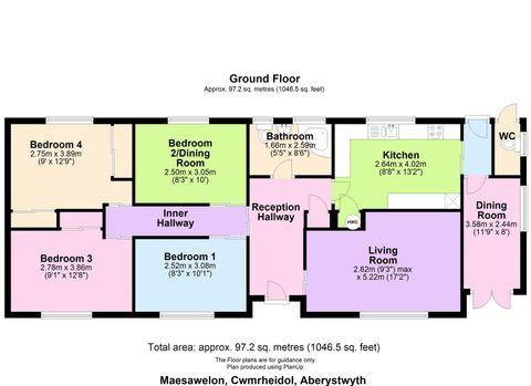 Maesawelon, Cwmrheidol, Aberystwyth Floor Plan.Jpg