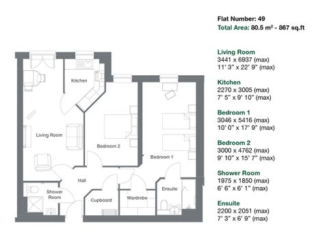 Apartment 49 Floor Plan