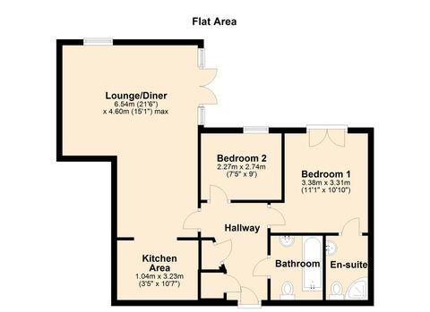 Floor Plan - 47 Triumph House, Manor House Drive,