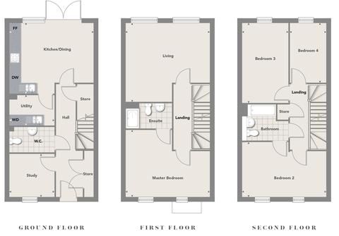 Fairview New Homes - Zoopla -  Floorplan