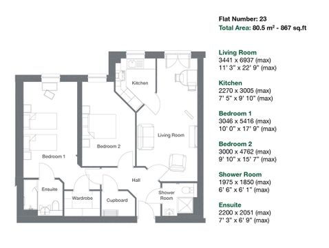 Apartment 23 Floor Plan