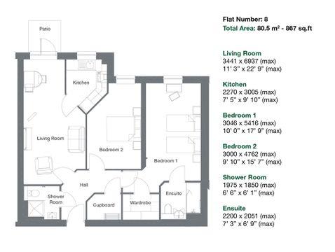Apartment 8 Floor Plan