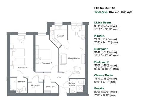 Apartment 20 Floor Plan